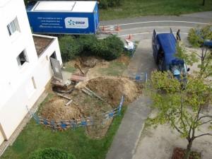 Travaux de remplacement du transformateur électrique de la résidence